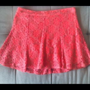Lush Lace A-Line Mini Skirt In Fun Color.